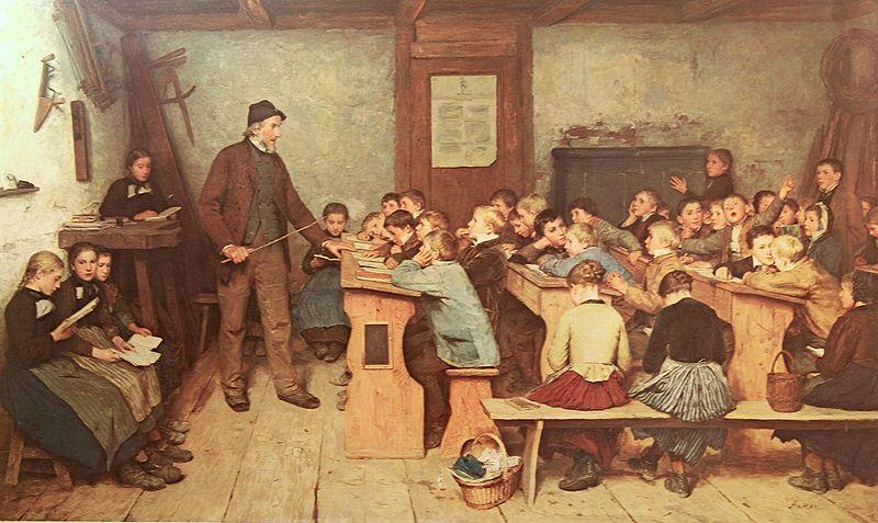 """Alfred Anker """"Die Dorfschule von 1848"""""""