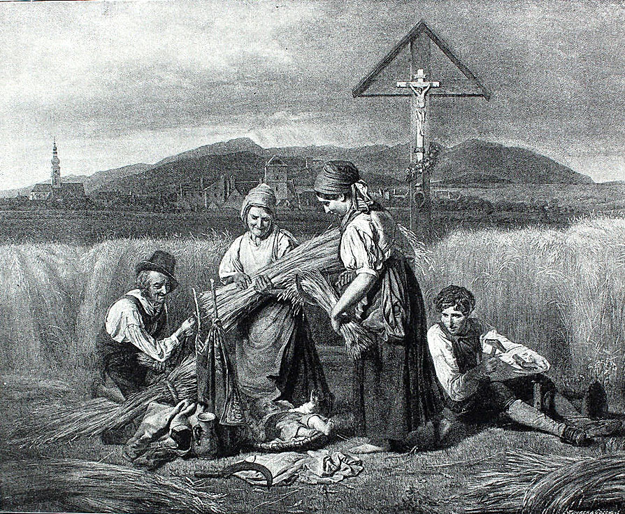 Image 6: After Ferdinand Waldemüller: The Harvest (1847). Lithograph on paper, 7 ½ x 9 inches (1887). Palouse Regional Studies Collection.