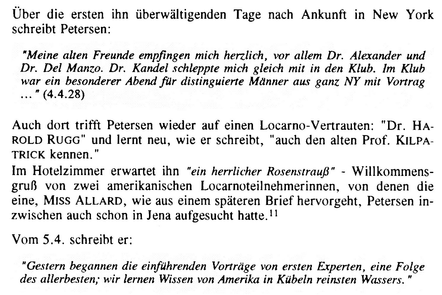 Figure 1: Peter Petersen in the USA (Kluge, 1992, p. 204)