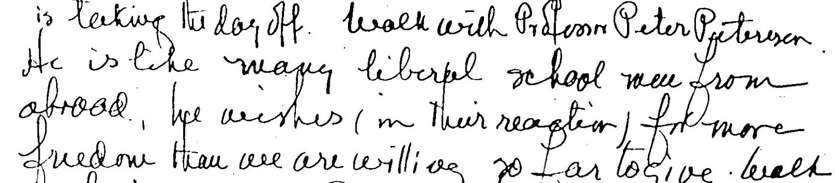 Figure 3: Peter Petersen, in Kilpatrick's, diary (vol. 24), April 12, 1928 (Source: GL-TCCU [GotLib])