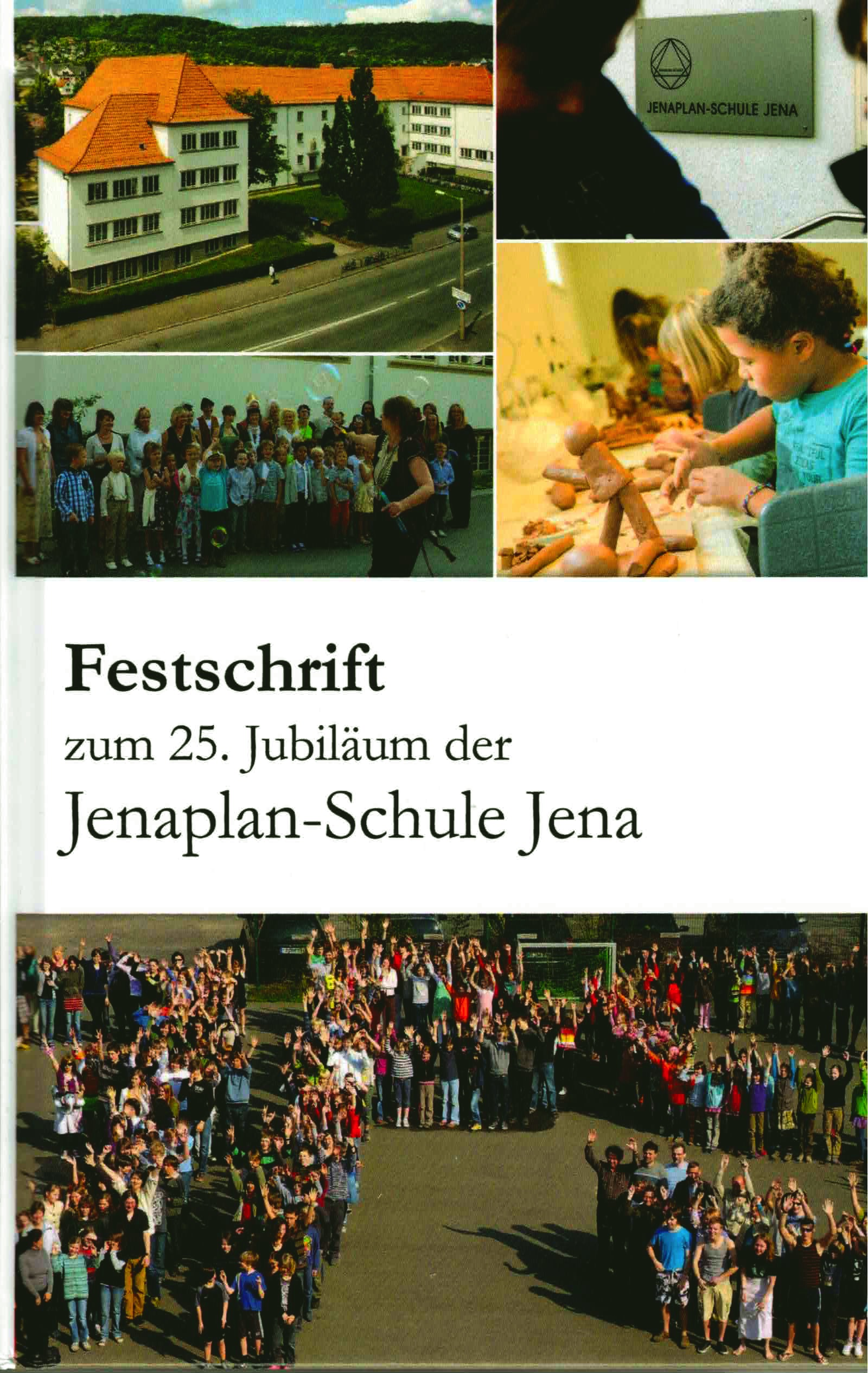 """Figure 14: Cover of the """"Festschrift"""" for the 25th anniversary of the Jenaplan-Schule Jena."""