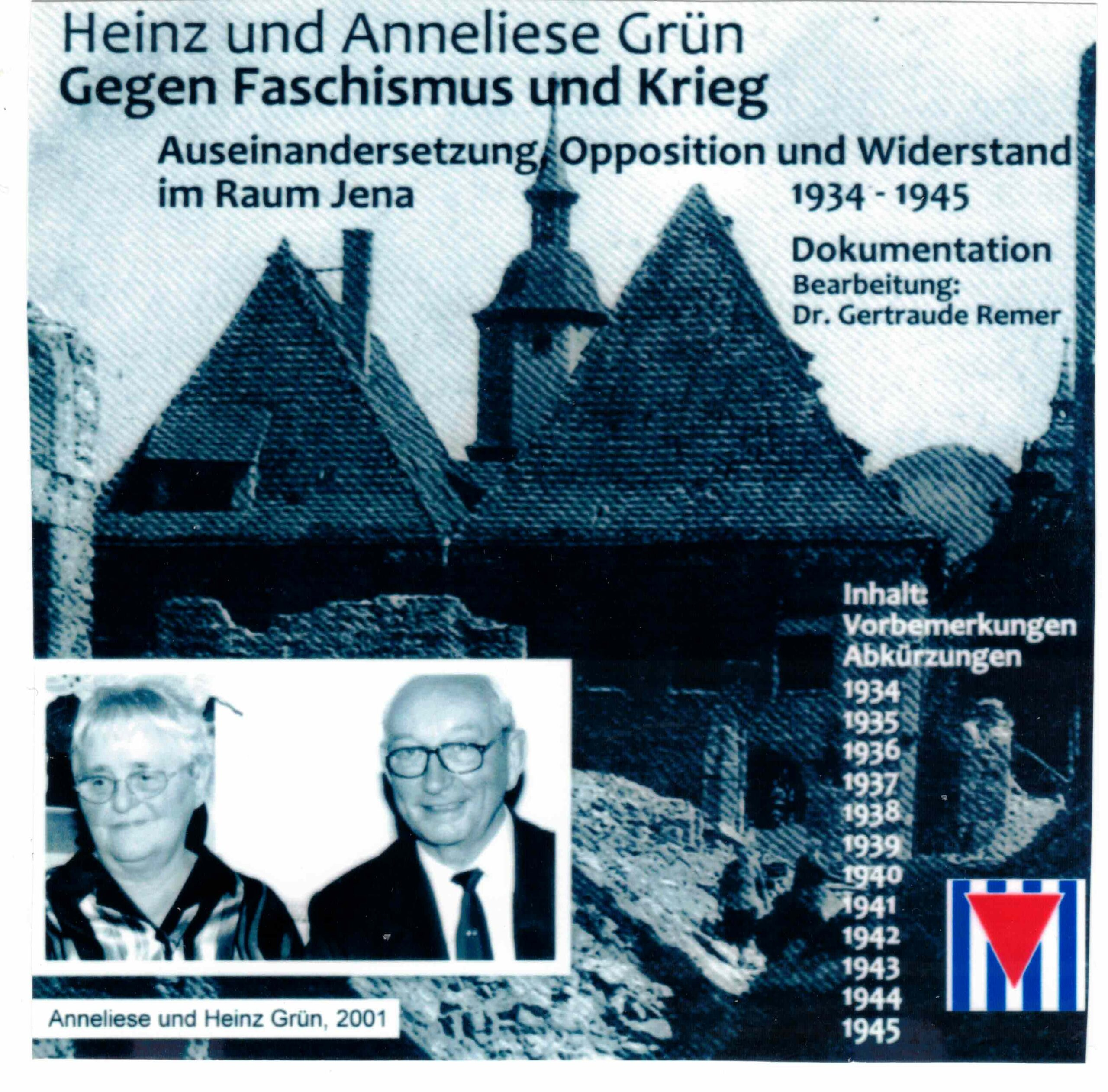 """Figure 17: ISO-Image of the CD: Grün's Documentation Against Fascism and War. """"Conflict, Opposition and Resistance in the Jena Area 1934-1945."""""""